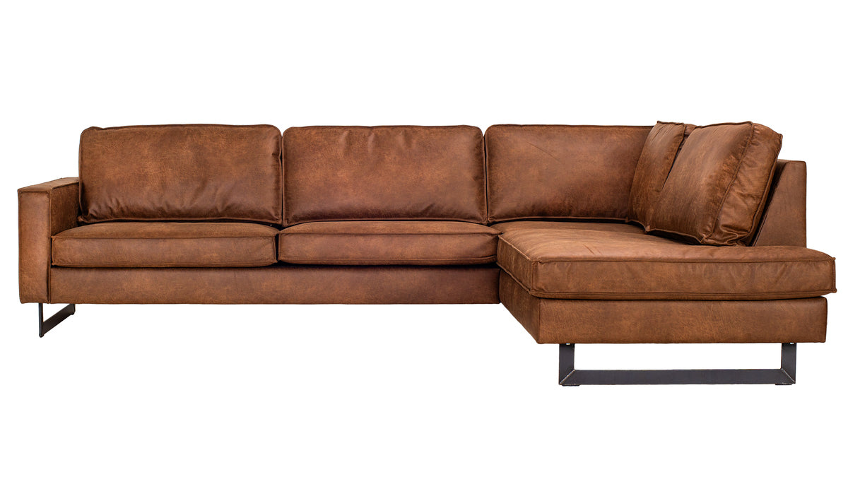 Pinto L sofa Right Chaise | Brandy