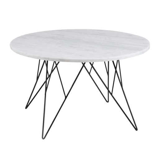 Prunus Coffee Table | White & Marble, Medium