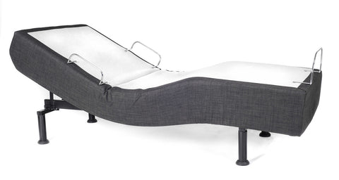 C&J Silver Adjustable Bed Base