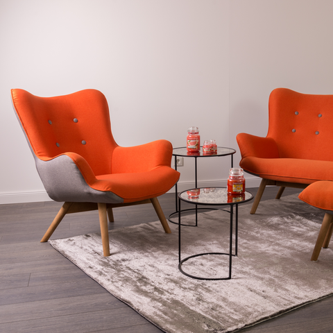 Twist Chair | Fiesta Orange, Grey