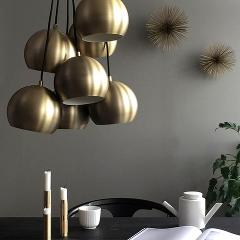 Multi Ball Pendant | Brass and Black
