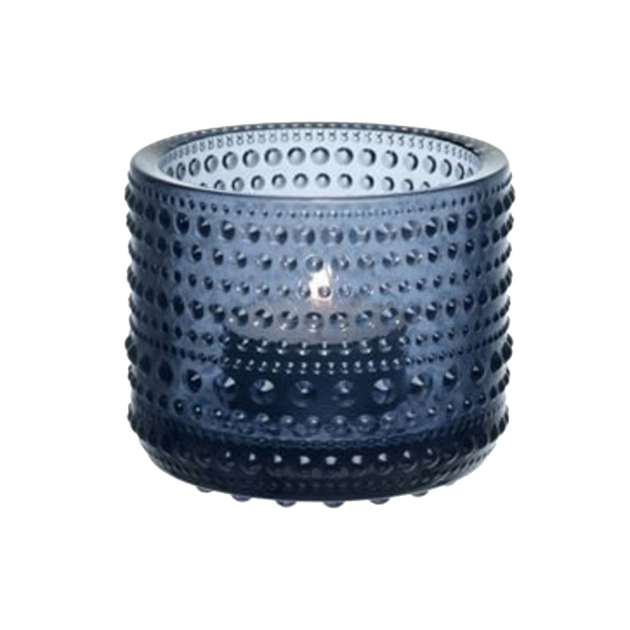 Iittala Kastehelmi Candle Holder |  Rain Blue