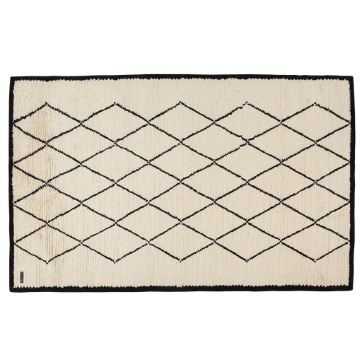 Maroco Rug | Black, White