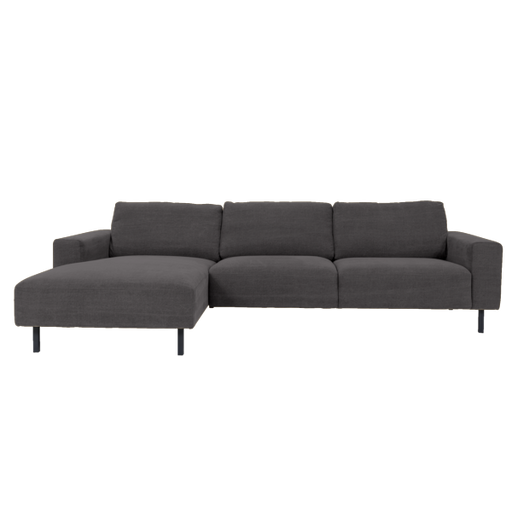 Angelina Sofa with Chaise Left | Anthracite