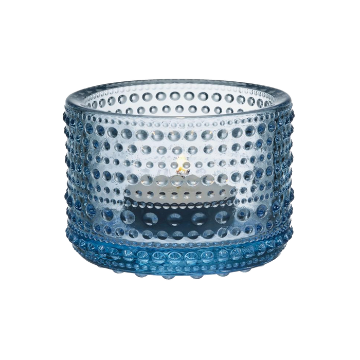 Iittala Kastehelmi Candle Holder | Aqua