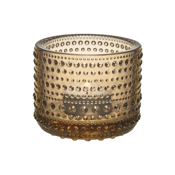 Iittala Kastehelmi Candle Holder | Desert Brown