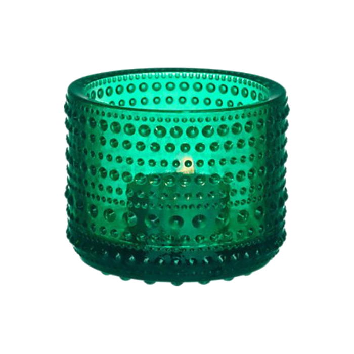 Iittala Kastehelmi Candle Holder | Emerald Green