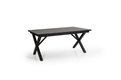 Ibiza Outdoor Dining Table | Black & Grey Wood
