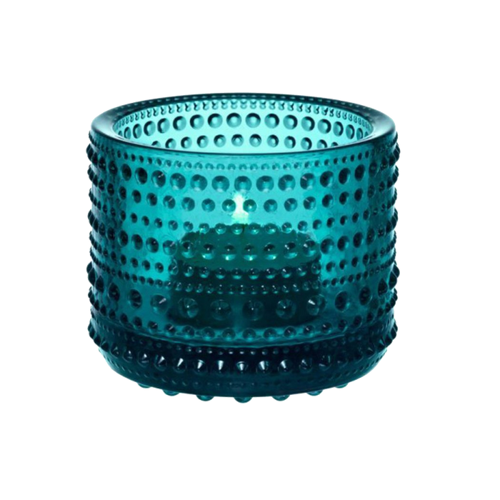 Iittala Kastehelmi Candle Holder | Sea Blue