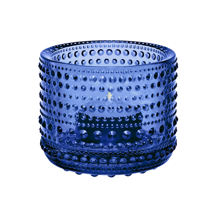Iittala Kastehelmi Candle Holder | Ultramarine Blue