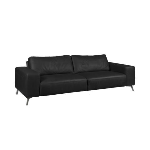 Taxton Sofa 3 Seater | Black, Leather
