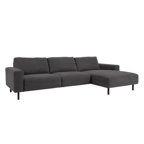 Angelina Sofa with Chaise Right | Antrazit