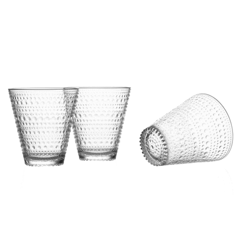Iittala Kastehelmi Glass | Clear | Two-pack