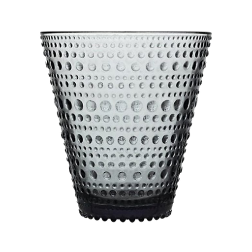 Iittala Kastehelmi Glass | Grey | Two-pack