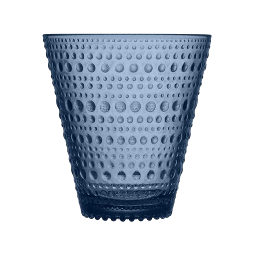 Iittala Kastehelmi Glass | Rain Blue | Two-pack