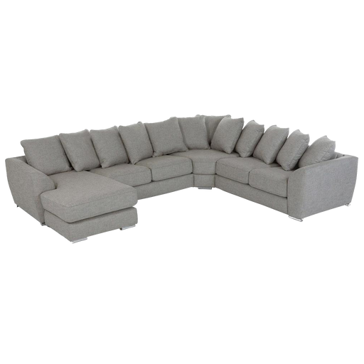 Beta Left Hand Modular Sofa | Silver Grey