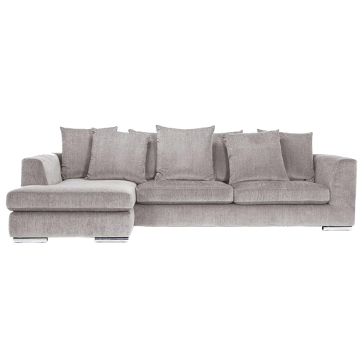 Paso Doble Night Sofa with Chaise Left | Light Grey