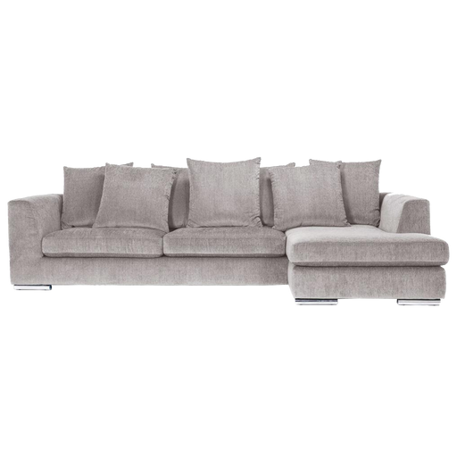 Paso Doble Night Sofa with Chaise Right | Light Grey