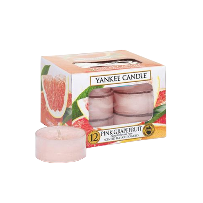 12 Yankee Pink Grapefruit Tea Light Candles