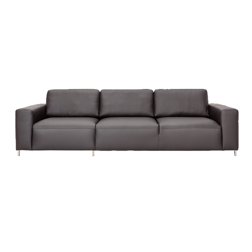 Imagination Leather 3 Seater Sofa | Black