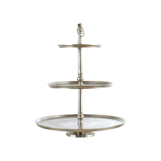 Carter Cake Stand 3 Levels | Silver