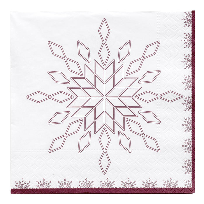 Starilisa Napkin  | White & Red