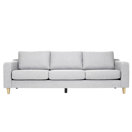 Tampa 3 Seater Sofa | Light Grey, Oak