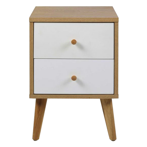 Oslo Bedside Table | Oak, White