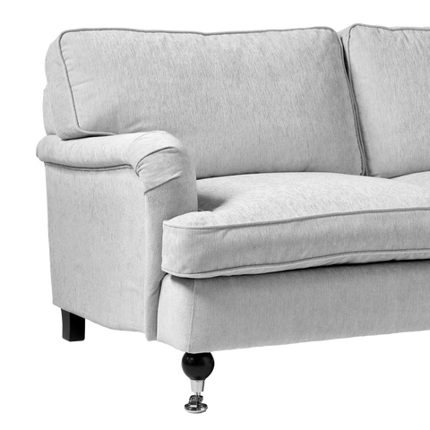 Proxima Curved 3 Seater Sofa | Light Grey