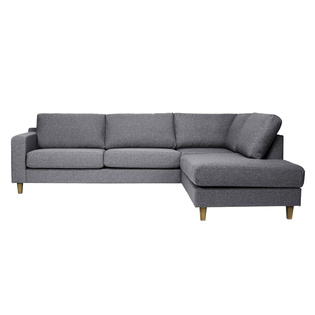 Excellent Tampa Corner Sofa Right 3 Seater Charcoal Oak Home Interior And Landscaping Mentranervesignezvosmurscom