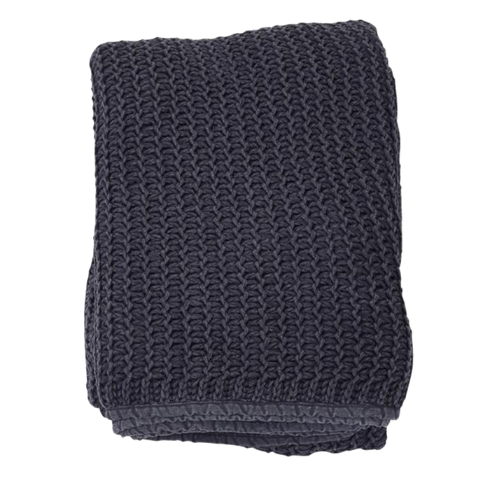 Jakobsdals Knitted Throw | Blue