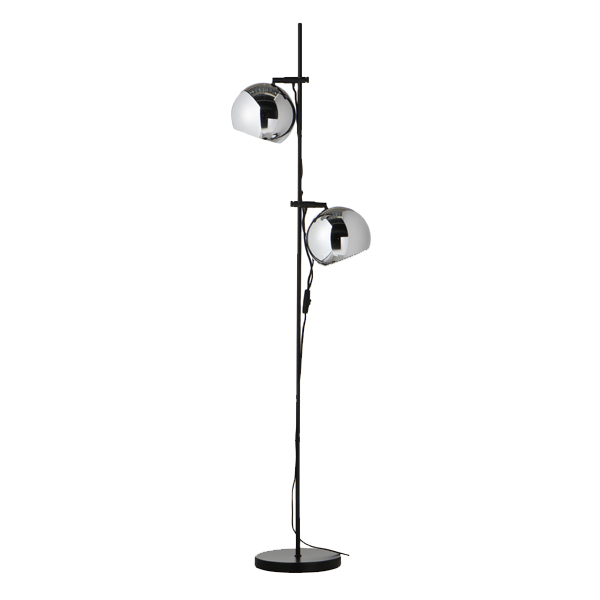 Ball double Floor lamp | Chrome
