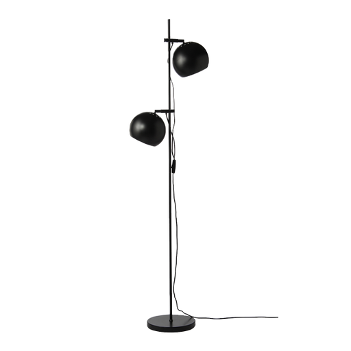 Ball double floor lamp | Matt Black