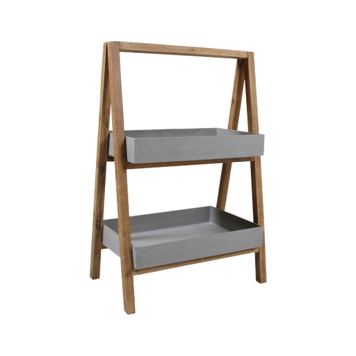 Violette Shelf | Acacia & Concrete