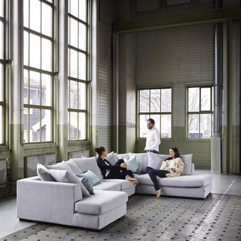 Paso Doble Night Modular Sofa | Light Grey