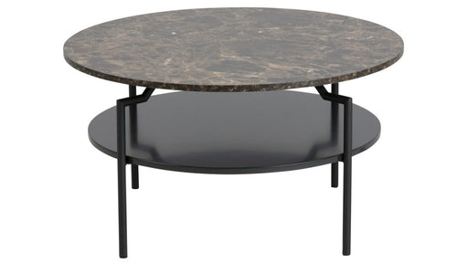 Goldington Coffee Table Marble Brown