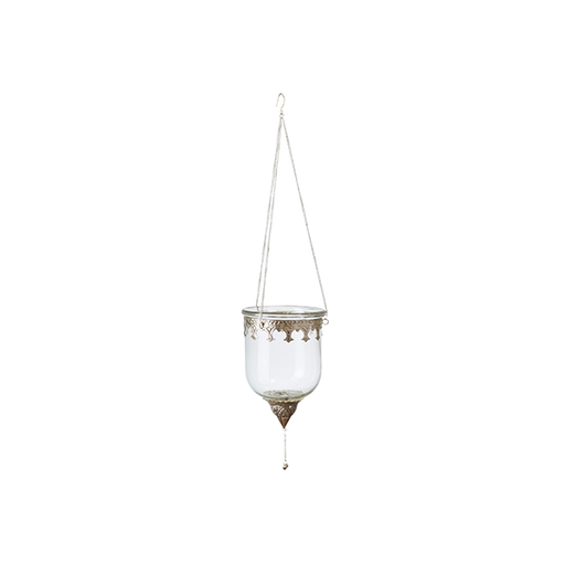 Marrakesh Hanging Lantern | Grey and Clear