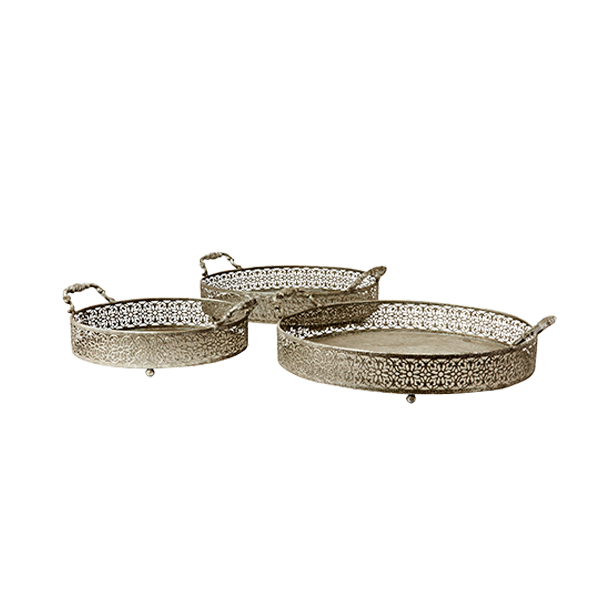 Chantal Tray Set Of 3 | Silver
