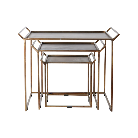 Thomas Table Set Of 3 | Bronze
