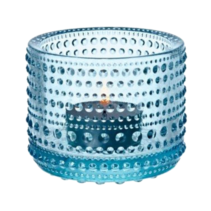 Iittala Kastehelmi Candle Holder |  Light Blue