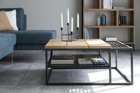 Apartment Coffee Table | Oak, Black