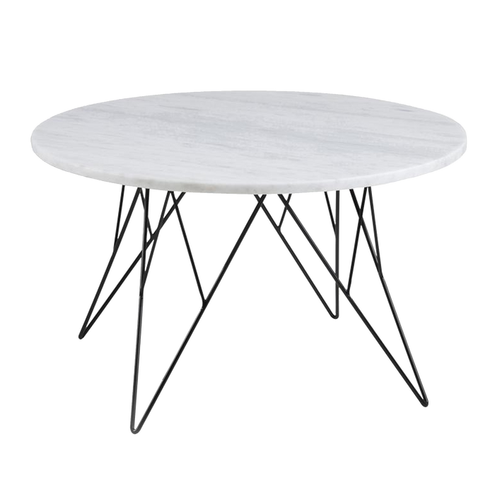 Prunus Coffee Table | White & Marble, Large