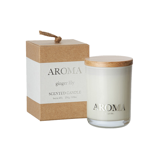 AROMA SCENTED CANDLE | GINGER & LILY