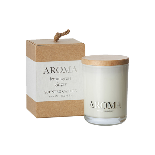 AROMA SCENTED CANDLE | LEMONGRASS & GINGER