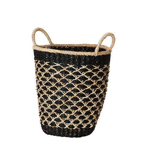 Collect Basket S | Black & Natural