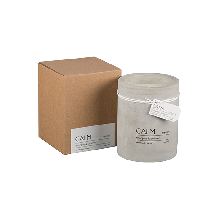 CALM SCENTED CANDLE | LEMONGRASS & CARDAMOM