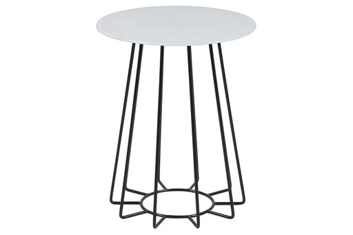 Casia Lamp Table | White & Black