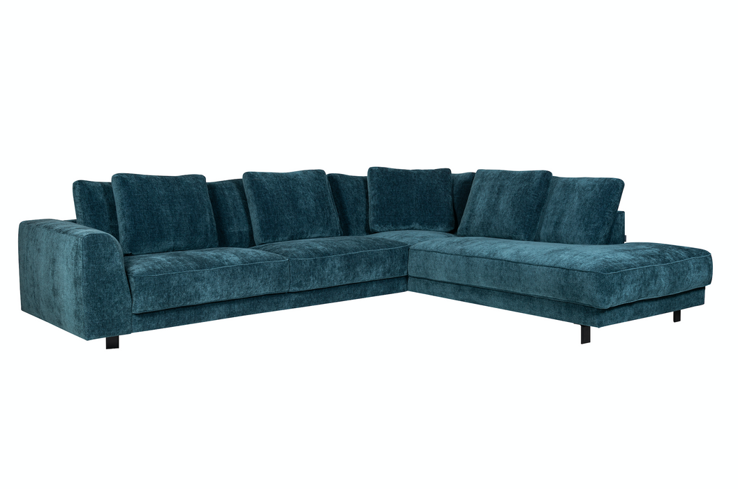 Samba Night Sofa W. Chaise Right | Alice Midnight Blue