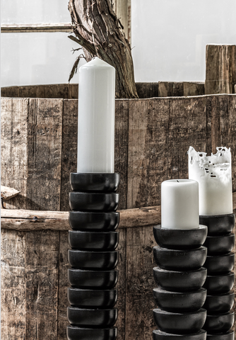 Lobello Candle Holder S | Black