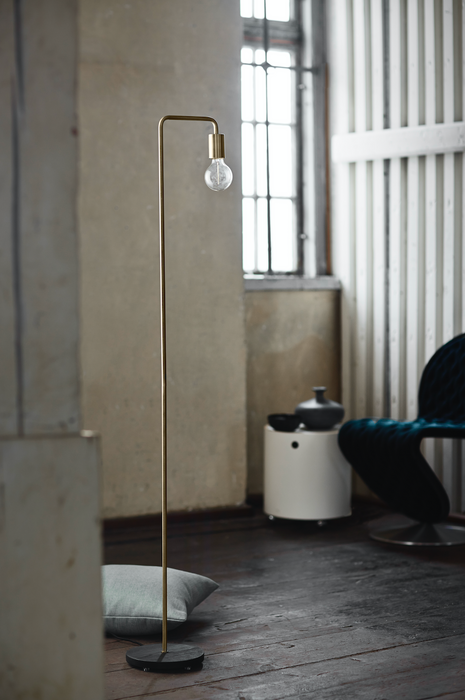 Cool Floor Lamp | Matt Brass